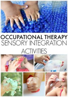 Sensory integration treatment ideas and tips for Occupational Therapists, parents, and educators for students in classrooms, at home, and in outpatient treatment clinics. Occupational Therapy Activities, Sensory Therapy, Autism Activities, Occupational Therapist, Motor Activities, Sensory Integration Therapy, Ot Therapy, Calming Activities, Sorting Activities