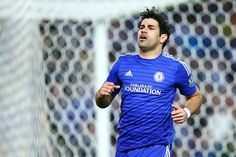 Diego Costa of Chelsea reacts after a missed shot on goal during the international friendly match between Sydney FC and Chelsea FC at ANZ Stadium on June 2, 2015 in Sydney, Australia.