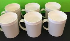 Vintage Set Of 6 Therm Ware Cups By David Douglas & Co. 1960's, Collectable