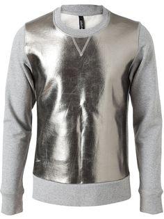 NEIL BARRETT Metallic Print Sweatshirt