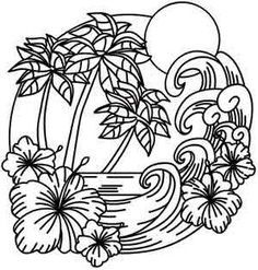 New Ideas Embroidery Patterns Flowers Design Urban Threads Tree Coloring Page, Coloring Book Pages, Printable Coloring Pages, Coloring Sheets, Paper Embroidery, Embroidery Stitches, Embroidery Patterns, Doily Patterns, Flower Embroidery