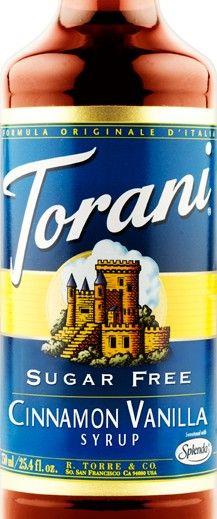 Sugar Free Cinnamon Vanilla Torani Syrup