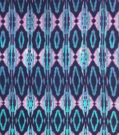 Silky Prints Rayon Fabric-Abstract Blue/Pink