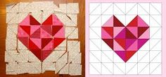 quilt squares with hearts - Google Search