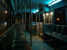 Empty Bus at Night Night Aesthetic, City Aesthetic, Night Photography, Street Photography, Cinematic Photography, Level Design, Images Esthétiques, Night Vibes, U Bahn