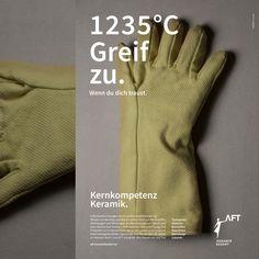 Advertisement for AFT. Corporate Design, Gloves, Advertising, Leather, Advertising Agency, Wels, Brand Design, Branding Design
