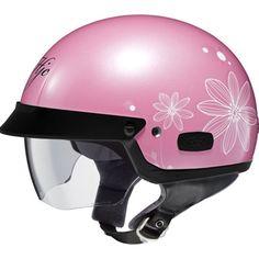 Ladies Pink Motorcycle Helmet for Women