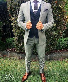 men suits fashion -- CLICK VISIT link above for more info - Mens suits - Best Suits For Men, Cool Suits, Suit For Men, Grey Suit Men, Mens Fashion Suits, Mens Suits, Fashion Vest, Fashion Shirts, Fashion Boots