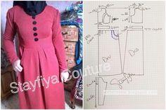 Abaya Fashion, Muslim Fashion, Fashion Outfits, Dress Making Patterns, Muslim Dress, Hijab Chic, Jacquard Dress, Mode Hijab, Fashion Sewing