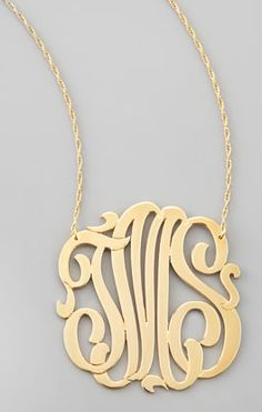 Monogram pendant necklace #wishlist