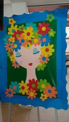 Crafts for Kids Ideas Quick and Easy to Make Kids Crafts, Spring Crafts For Kids, Preschool Crafts, Diy For Kids, Diy And Crafts, Arts And Crafts, Paper Crafts, School Decorations, Mothers Day Crafts