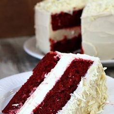 Red Velvet Cheesecake Cake With Cream Cheese, White Sugar, Salt, Large Eggs, Sour Cream, Heavy Whipping Cream, Vanilla Extract, All-purpose Flour, White Sugar, Unsweetened Cocoa Powder, Baking Soda, Salt, Large Eggs, Vegetable Oil, Buttermilk, Red Food Coloring, Vanilla Extract, White Vinegar, Powdered Sugar, Cream Cheese, Unsalted Butter, Vanilla Extract