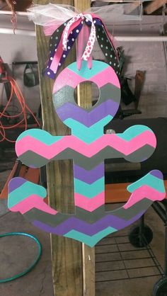 My newest craft... Chevron print anchor ...  $25