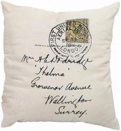 thelma stamp throw pillow