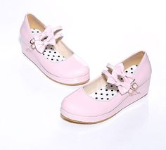 2015 Womens Bowknot Buckle Strap Wedge Heel Sweet Platform Pump Creeper Shoes in Clothing, Shoes & Accessories, Women's Shoes, Heels | eBay