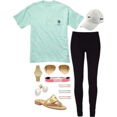 casual pink and mint, created by the-southern-prep on Polyvore