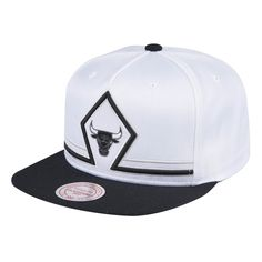 6f4ca273aca92d Chicago Bulls NBA Extra Large Logo Two Tone Snapback Hat by Mitchell ...