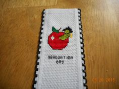 cross stitch graduation bookmark available in my etsy shop  DebbyWebbysCards