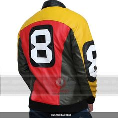8 Ball Jacket - Seinfeld Michael Hoban Real Leather Jacket Costume     The famous TV serial Seinfeld is the all-time favorite of many people. The stunning 8 ball jacket worn by Patrick Warburton in the series has become a hot selling item in the jackets category. This jacket is craft