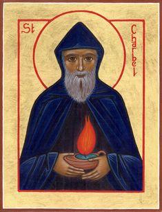 St Charbel, Catholic, Saints, Baseball Cards, Painting, Manualidades, Painting Art, Paintings, Painted Canvas