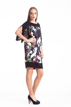 Celebrate spring with FLOWERS! Shop the floral dress by clicking the link below. Discover the Conquista New Collection 2015 in our brand new website!Don't miss a piece! Fashion Shops, Women's Fashion, Every Woman, Female Bodies, Going Out, Cool Style, Cold Shoulder Dress, Brand New, Shirt Dress