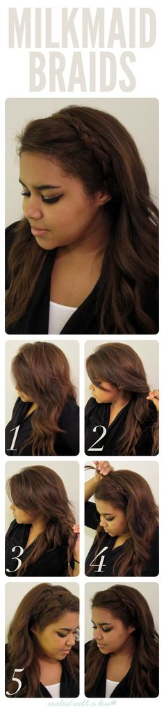 This is one of the easiest braided hairstyles to do. All you need is some bobby pins.
