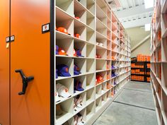 Athletic Gear And Equipment Stored On Mobile Shelving At #Clemson  University. #CU #