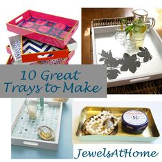 upcycle diy silver trays | DIY Decorative Trays – Ten Great Ideas