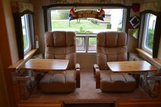 Lazyboy recliners in a truck camper