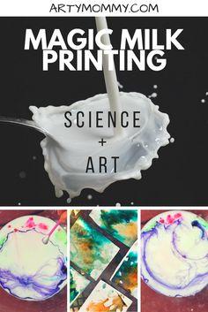 Magic Milk Printmaking and Art science and art