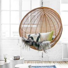 We've already started making our holiday wish list (it's never too early), and this Hanging Bowl Chair from @hkliving is definitely on the list. In the meantime, we'll grab our Everyday Furniture Cleaner and go ahead and begin clearing a designated spot in the office for this baby.  Everyday Furniture Cleaner: http://www.murchison-hume.com/collections/cleaners/products/everyday-upholstery-cleaner  #interior #loft #hangingchair #modern
