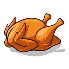 Chicken Clip Art, Chicken Icon, Chicken Vector, Chicken Drawing, Chicken Logo, Cartoon Chicken, Food Cartoon, Food Drawing, Roast Chicken