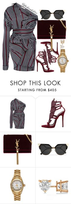 """Untitled #1437"" by fashionkill21 ❤ liked on Polyvore featuring SemSem, Giuseppe Zanotti, Yves Saint Laurent, Fendi, Rolex and Allurez"