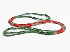 Seed bead necklace color block Xmas necklace layer by xEsFunThings
