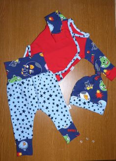 baby set, bodysuit, hat and pants