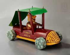 Flintstones - RUBBLE'S WRECK friction tin toy by Marx Toys - 1962 by LUNZERLAND., via Flickr