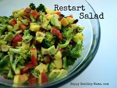 Restart Salad--a great way to start the New Year.  Full of detox foods.