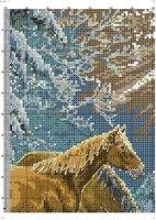 Gallery.ru / Фото #1 - 7 - TATO4KA6 Cross Stitch Embroidery, Horses, Texture, Wood, Animals, Plastic, Fish, Winter, Places