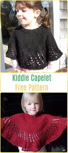 Knit Kiddie Capelet Free Pattern - Knit Baby Sweater Outwear Free Patterns