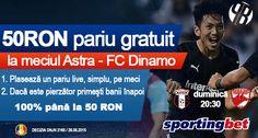 Pariaza gratuit pe derby-ul etapei din Liga 1, Astra - Dinamo - Ponturi Bune
