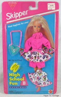 1994-HIGH-SCHOOL-FUN-SKIPPER-FASHION-BARBIE-Vintage-HTF-rare-NIP-collector-New