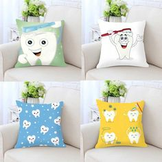 Dentistry Pattern Throws/Cushion Covers
