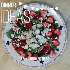 Strawberry Chicken Salad  #21DayFix #Recipes  For more wellness living tips and 21 Day Fix Recipes follow me on Facebook at: www.facebook.com/kimrowfitness
