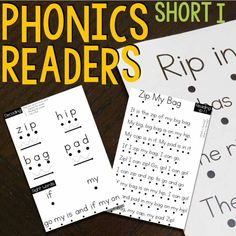 Phonics Readers that help students learn to decode and sound out words while reading.