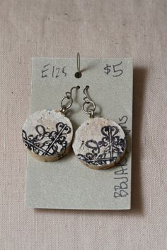 WINE CORK earrings by 83GypsyRoad on Etsy, $5.00