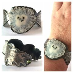 theirishdaisy Finished! Dandelion Seed Head Cuff in sterling silver with a large solar quartz and two small peridot cabochons. Listed in the shop; link in profile. #theirishdaisy #etsy #riojeweler #etsyshop #etsyseller #dandelion #metalsmith #silversmith #instasmithy #instajeweler #instajewelrygroup #cuff #handmadejewelry #seedhead #wristcandy #bracelet #etsyjeweler