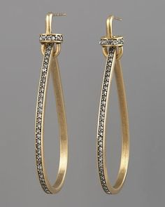 #engagementparty Paige Novick Pave Teardrop Hoop Earrings at Neiman Marcus. $365. @Neiman Marcus