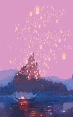 This Magic Moment - Tangles / Disney Pixar Inspired - Movie Poster Art
