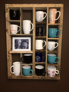 Coffee mug display. by BarnesYardCreations on Etsy
