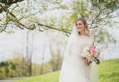 One of the cutest weddings ever- And love her lace dress